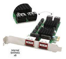 8-Port SATA-3 6G Dual Chipset PCI-E 2.0 x1 slot controller Internal & External