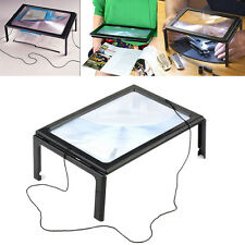 Giant Large Hands Free Magnifying Glass Light LED Magnifier For Reading Aid UK