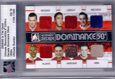 08/09 ITG ULTIMATE DECADE DOMINANCE 50'S PLANTE RICHARD BELIVEAU SAWCHUK ABEL
