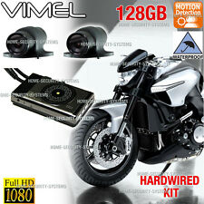 Bike Camera Motorcycle 128GB 1080 Twin Car Waterproof Hardwired Truck Best K1S