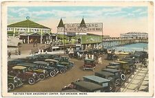 The Pier From Amusement Center at Old Orchard Beach ME Postcard