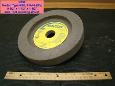 "NEW Norton Type 6 06, 53A46-K8V 9 1/2"" x 1 1/2"" x 1 1/2"" Cup Tool Grinding Wheel"