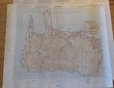 German WW2 Luftwaffe Fallschirmjager airborne invasion map of Crete 1941