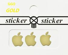 3 PCS Gold Apple Metal Logo Sticker Decal for Apple iPhone 6 iPhone 5s 4s iPod