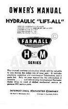 FARMALL H HV M MD MV Hydraulic Lift-All Operator Manual