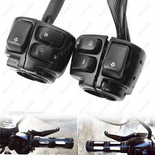 "Aluminum Motorcycle Bike 1"" Handlebar Control Switches+Wiring Harness For Harley"