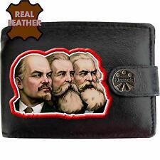 Klassek Lenin Engels Marx Leather Wallet USSR Russian Communist Socialist image