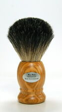 Hans BAIER rasierpinsel tetto capelli olive legno shaving brush badger 20 mm Germany