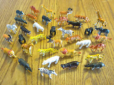 """36 NEW ZOO ANIMALS TOY PLAYSET WILD JUNGLE ANIMAL  2"""" SIZE PARTY FAVORS TIGER"""