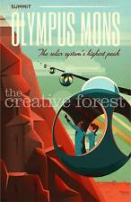OLYMPUS MONS, Space Travel Advertising Repro Rolled CANVAS PRINT 24x36 in.