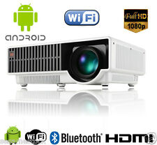 5000 Lumen 1080P Home Theater Multimedia Android TV HDMI USB LCD LED Projector