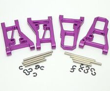 CNC Aluminum Alloy Front & Rear Lower Arm Set for HPI NITRO RS4 3 III New purple