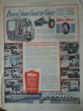 1939 White Horse Motor Co Business Delivery Truck Coast to Coast Ad AS IS