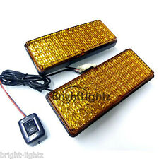 12v - 24v HEAVY DUTY AMBER LED STROBE LIGHTS GRILL RECOVERY VEHICLE FLASHING UK