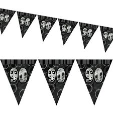 12ft Black Sparkle Happy 90th Birthday Pennant Flag Banner Party Decoration