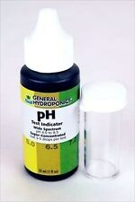 pH TEST INDICATOR DROPS - MEASURE pH OF WATER - LITMUS - BY GENERAL HYDROPONICS