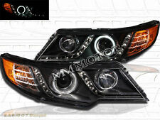 FIT 10-13 FORTE COUPE / FORTE CCFL HALO ANGEL EYE LED PROJECTOR HEADLIGHTS BLACK