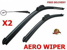 "Windscreen Flat Aero wiper blades 21""19"" retro u-hook for Skoda Fabia. Octavia"