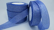 """NEW 5yards 1 """"25mm glitter ribbons Bling for DIY Wreaths decorated and Bows T10C"""