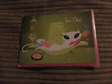 Tres chic,French kitty card / notelet