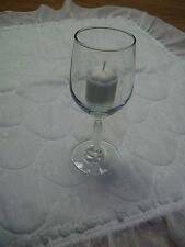 """Clear Glass Stemmed Votive Cup Candle Holder for Small Pillar Candles/7.5"""" Tall"""