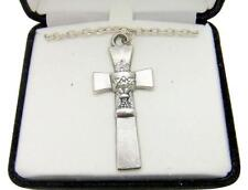 MRT First Holy Communion Oxidized Silver Tone Medal Necklace Boxed w Chain 1""