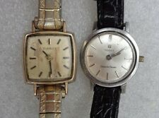 vintage pair lady Tissot wristwatch for repair
