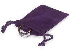 100 PURPLE 2x2 Jewelry Pouches Velour Velvet Gift Bags