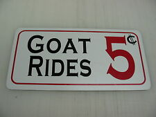 GOAT RIDES 5 Cents Sign 4 Open Wheel, Stock, Street Racing, Euro GT GTO