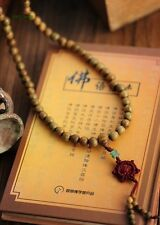 Fragrant Green Sandalwood 108 12MM Buddhist Prayer Bead Mala Necklace/Bracelet