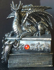 GUARDIAN of BIBLIOFILES   Dragon Jewelry / Trinket BOOK Figure Statue H5''xW4''