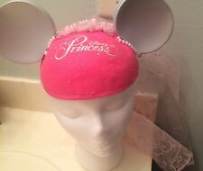 Disneyland Mickey Mouse Pink Disney Princess Ears Hat Vail Train Pearls