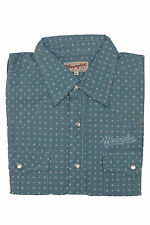 Branded Export Surplus Half Sleeves Casual  Double Pocket Blue Shirt -M Size