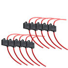 10Pack Car ATC Fuse Holder Box IN-LINE AWG Wire Copper 12V 30A 16 Gauge
