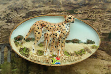 Cheetah in South Africa, Tourist 3D Resin Souvenir Fridge Magnet Travel GIFT