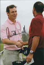 David HOWELL SIGNED Autograph 12x8 Photo with Tiger WOODS AFTAL COA Genuine