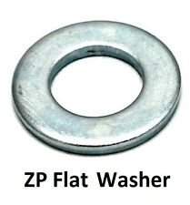 """Qty 100 Flat Washer 3/8"""" x 1 x 16g Imperial Round Steel Zinc Plated ZP"""