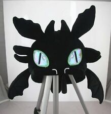 HOW TO TRAIN YOUR DRAGON II Toothless Night Fury Hat Plush Halloween Cosplay