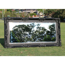 Wooden italian style Embossed Wall Mirror with black frame