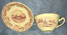 Fox Hunt Hunting Cup and Saucer Royal Venton Ware Red