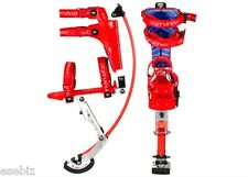 Kids/Child Youth Kangaroo Shoes Jumping Stilts Fitness Exercise 44-88Lbs RED