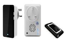 Quality rainproof twin receiver, wireless doorbell with 36 ringtones