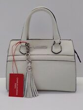 Charles Jourdan Paris Valentina Leather Satchel (White)