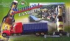 HO 1:87 SCHROLL GERMAN BEER TRUCK US-FREIGHTLINER SEMI WITH TRAILER AND BOTTLE