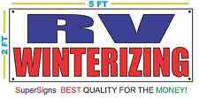 RV WINTERIZING Banner Sign NEW Larger Size