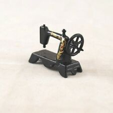 "Sewing Machine Portable -  dollhouse miniature 1/12"" scale D7781 metal"