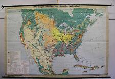 Murs CARTE MAP Amérique du Nord North America usa économie v & K 3mio, 231x160cm