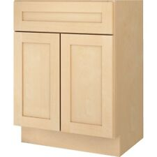 "Bathroom Vanity Base Cabinet Natural Maple Shaker 30"" Wide x 18"" Deep New"