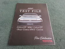 1988 TOYOTA 36 page TESTFILE BROCHURE - Celica GT & GT Four MR2 Camry 4WD Carina