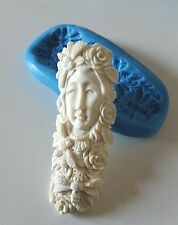 NATURE GODDESS SPIRIT Silicone Mould 73 mm Resin Sugarpaste PMC Cabochon Jewel